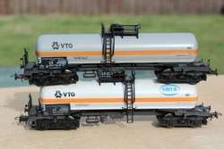 ② ROCO DB RAME DE 2 WAGONS CITERNES VTG HO - Trains miniatures | HO | 2ememain