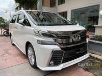 2016 Toyota Vellfire 2.5 Z A Edition Glass Sunroof Alpine Set Unregistered