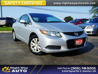 2012 Honda Civic Coupe LX | SAFETY CERTIFIED