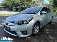 2016 TOYOTA COROLLA ALTIS 1.8 G FACELIFT (A) 1 Owner Only Accident Free