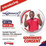 Good Title Land of Governors Consent (All Fees Inclusive)